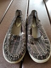Maurice's Brand Sz 6M Plaid Fleece Lined Loafers Hard Sole