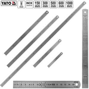 Lineal 15 bis 100 cm Edelstahl Stahllineal Metalllineal Werkstattlineal Maßstab