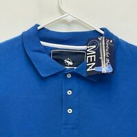 Nantucket Brand Men's Long Sleeve  Polo Blue Large NWT