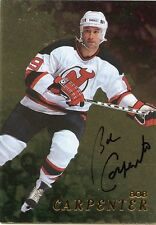 98-99 BE A PLAYER BAP SIGNATURE AUTOGRAPH AUTO GOLD BOB CARPENTER DEVILS *35296