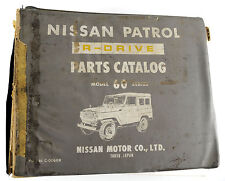 Datsun Patrol 60 series  illustrated factory parts book published 1974
