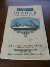 Sargent Planes and Other Tools Catalog circa 1920