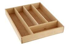 Premier Housewares Birchwood 5 Compartment Kitchen Draw Cutlery Tray 5x30x38 Cm