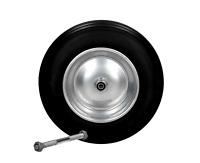 Schubkarrenrad Vollgummi PU Ersatzrad Rad Reifen 3.50-8 Schubkarre Achse 350 mm