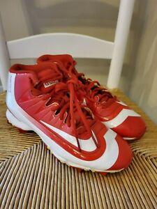 Nike Huarache bsbl baseball cleats size 6.5 Red