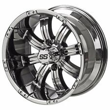 Set of 4 - 205/65-10 Tire on a 10x7 Mirror Chrome  Casino Wheel w/FREE Freight