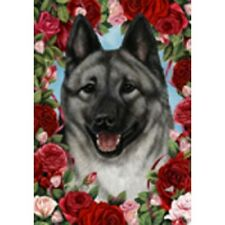 Roses Garden Flag - Norwegian Elkhound 194031