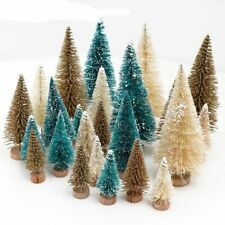 8pcs Mini Christmas Tree Small Pine Tree Different Size Merry Christmas Party