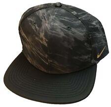 NIKE Just Do It Golf Swoosh Adjustable Adult Flat Bill Faux Leather Hat Cap