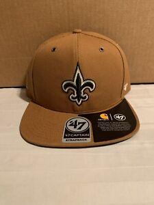 New Orleans Saints NFL '47 Carhartt Captain Hat Cap Adjustable Strap Back New