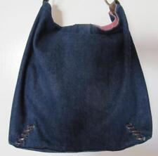Levis Denim Hobo Purse HandBag Dark Blue Leather Handle and Stitchery Levi Brand