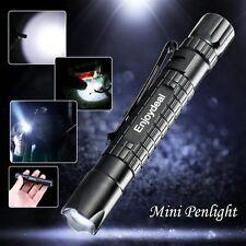 Tactical Mini Pen Pocket CREE XP-E R2 LED 1000LM Zoom Flashlight Torch Lamp