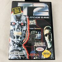 Terminator 2 Arcade Game T2 for Sega Genesis Complete with Case and Manual