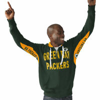 Men's Green Bay Packers Hands High Green Sueded Playoff Full-Zip Hoodie By G-III