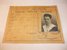 historische Papiere und Dokumente: Ausweispapier Ausweiskarte Ausweis Köln 1924
