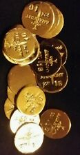 (3) 1 GRAM BAR USA BULLION 1g 22K PLACER GOLD ROUNDS FROM MINE Y LOT 151 ANARCHY