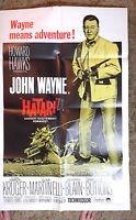 1967 Hatari Rerelease 1-Sheet Movie Poster-John Wayne- Folded (MHPO-024)