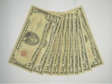 Lot of (10) $5.00 Red Seal Old US Notes Currency Collection $5 1963/1953 *369