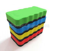 3X Random Magnetic Board Rubber Drywipe Blackboard Eraser Cleaner Dry wipe HH