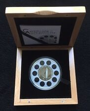 2014 $5 Palau Daniel Fahrenheit Thermometer 1oz Silver Coin
