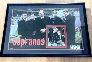 The Sopranos Autographed Framed Poster Gandolfini Falco Imperioli Sirico Pastore