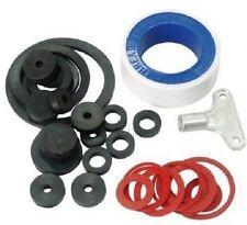 36 Pc Plumbing Kit Assorted Washers Tap Rings PTFE Sealing Tape & Radiator Key