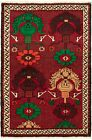 """Vintage Hand-Knotted Carpet 3'3"""" x 5'1"""" Traditional Oriental Wool Area Rug"""