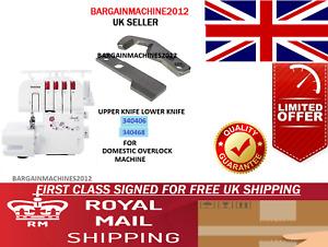 340406/340468 UPPER&LOWER KNIFE (SET) FOR DOMESTIC OVERLOCK MACHINES