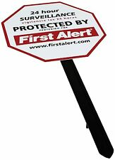 First Alert YS-1 Security Yard Sign In White Plus 4 Window Stickers Free Ship