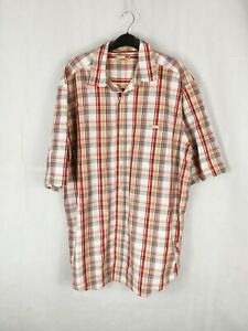 Mens ECKO Shirt Size XL Red White Short Sleeve