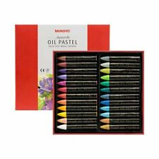 Mungyo Non Toxic Soft Water-Soluble Oil Pastel Set of 24 - Pearl Colors Set