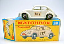 """Matchbox No.15A VW 1500 white body """"137"""" decals in early red script box"""