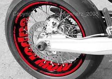 Aufkleber Felgenaufkleber Supermoto Honda FMX 650 CRM F500 XR 600 CRF 250 450 CR
