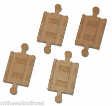 4 MALE TRACK ADAPTERS Thomas Tank Engine Train  Wooden adapter NEW!