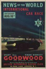 1950's Goodwood Motor Racing Poster A3 Print