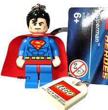 LEGO  SUPERMAN KEYRING KEYCHAIN MINIFIGURE  NEW