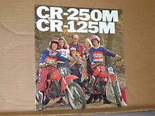 1976 Honda CR250 M CR125 M Motorcycle Sales Brochure - Literature
