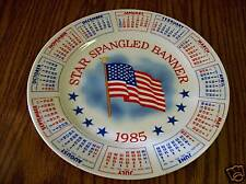 """Collector Plates 9"""" Star Spangled Banner  Spencer Gifts  Year 1985"""