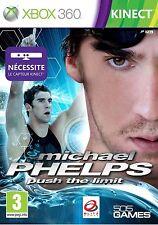 30809 /MICHAEL PHELPS PUSH THE LIMIT XBOX 360 NEUF CAPTEUR KINECT NECESSAIRE