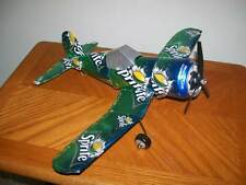 Aluminum soda can handcrafted airplane/SPRITE (CORSAIR)
