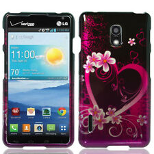 For LG Optimus F7 US780 HARD Protector Case Snap On Phone Cover Purple Love