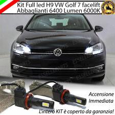 KIT H9 LED CANBUS ABBAGLIANTI VW GOLF 7 VII FACELIFT XENON 6000K 6400 LUMEN