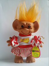uneeda cheerleader troll doll marked double horseshoes original outfit trolls