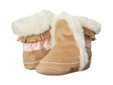 Robeez Fringe Fab Folk Boot Moccasin Booties Hippie Baby Size 11 0-3 Months