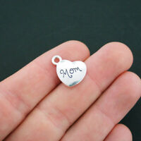 SC758 BULK 30 Ballet Heart Charms Antique Silver Tone I Love Ballet