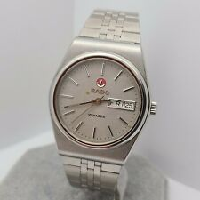 Vintage Rado Voyager 636.3207.4 Automatic men's watch Day/Date Grey Dial Swiss