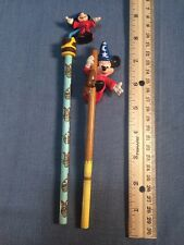 Lot Of 2 Applause Disney Mickey Mouse Pencil Topper PVC Figure Fantasia Wizard