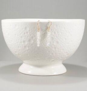 Moonstone Earrings, 14k Gold Filled, Beaded Small Delicate Dangle,Gift for Women