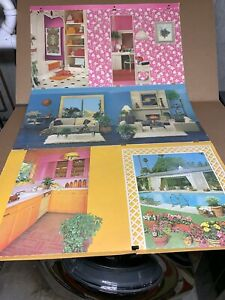 Vintage 1977 Mattel Barbie Townhouse Doll House Background Only