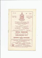 Chelmsford City v QPR 2 January 1960 Friendly